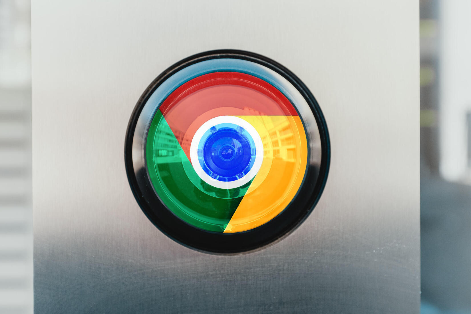mashup of camera and chrome logo