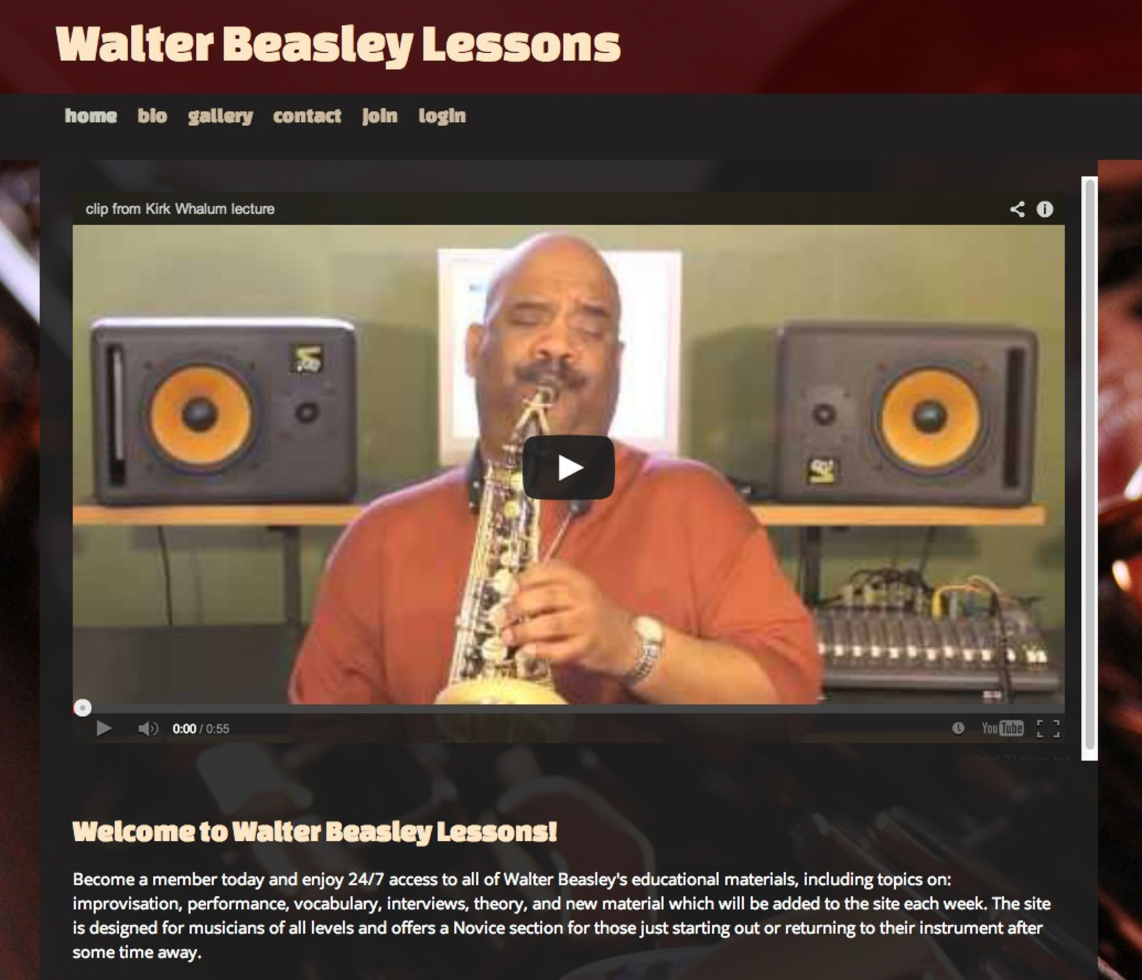 Walter Beasley Lessons