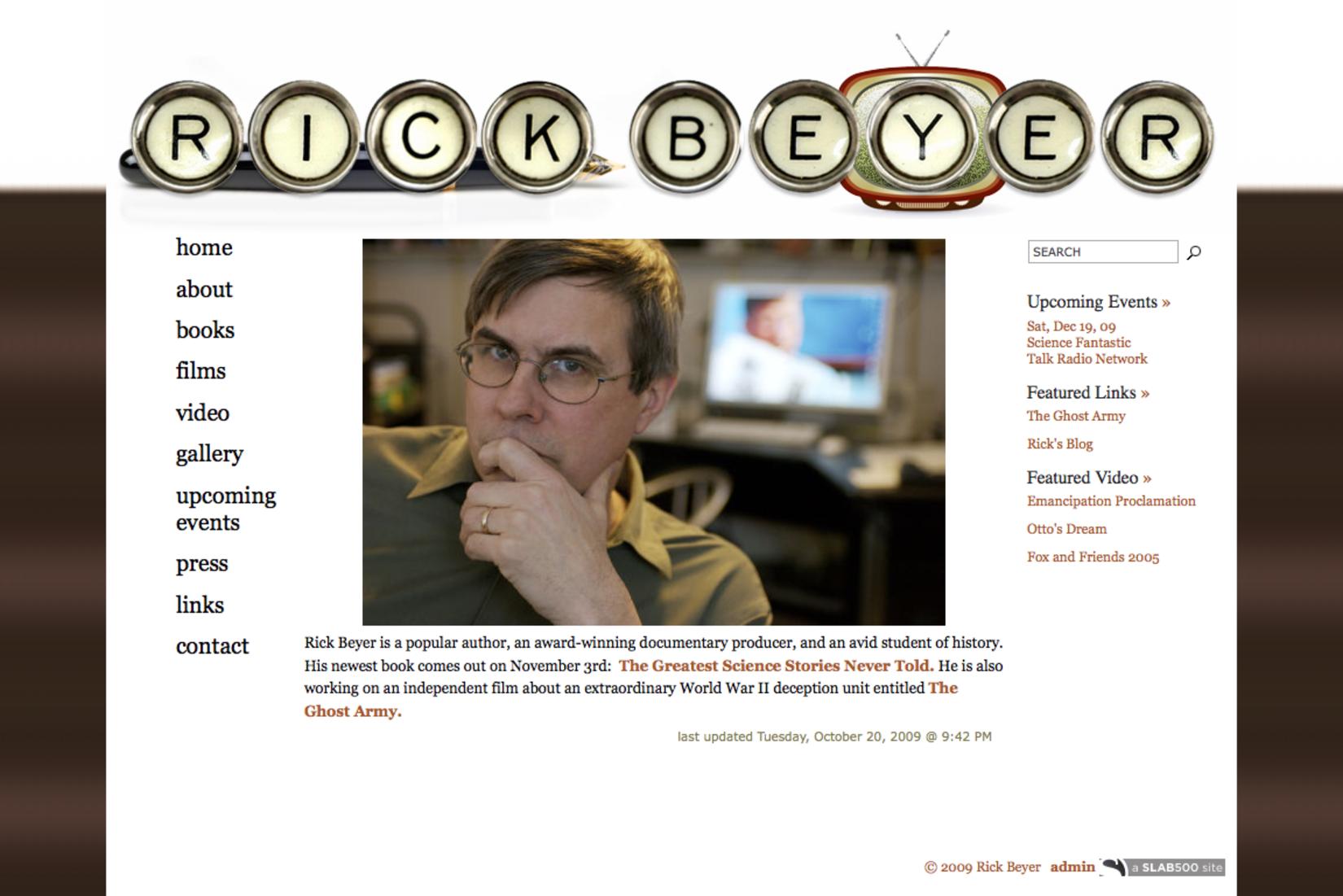 Rick Beyer, Author