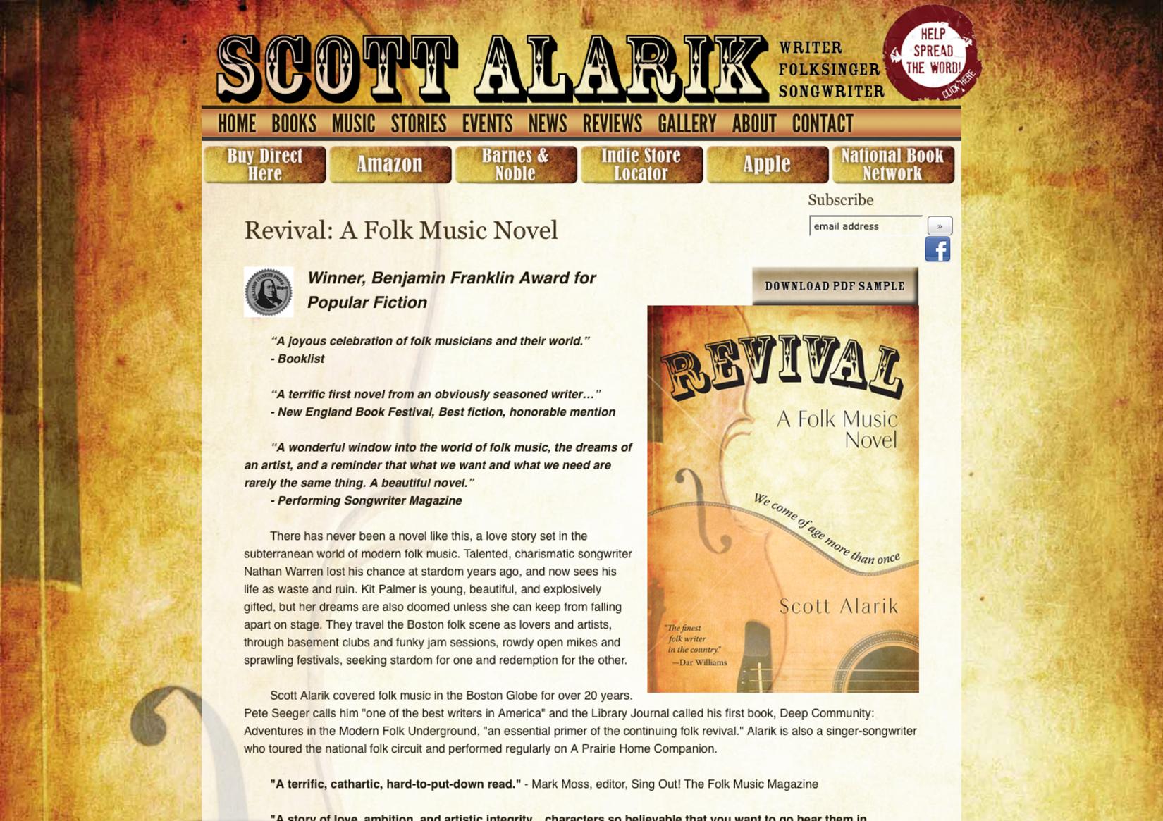 Scott Alarik, Writer