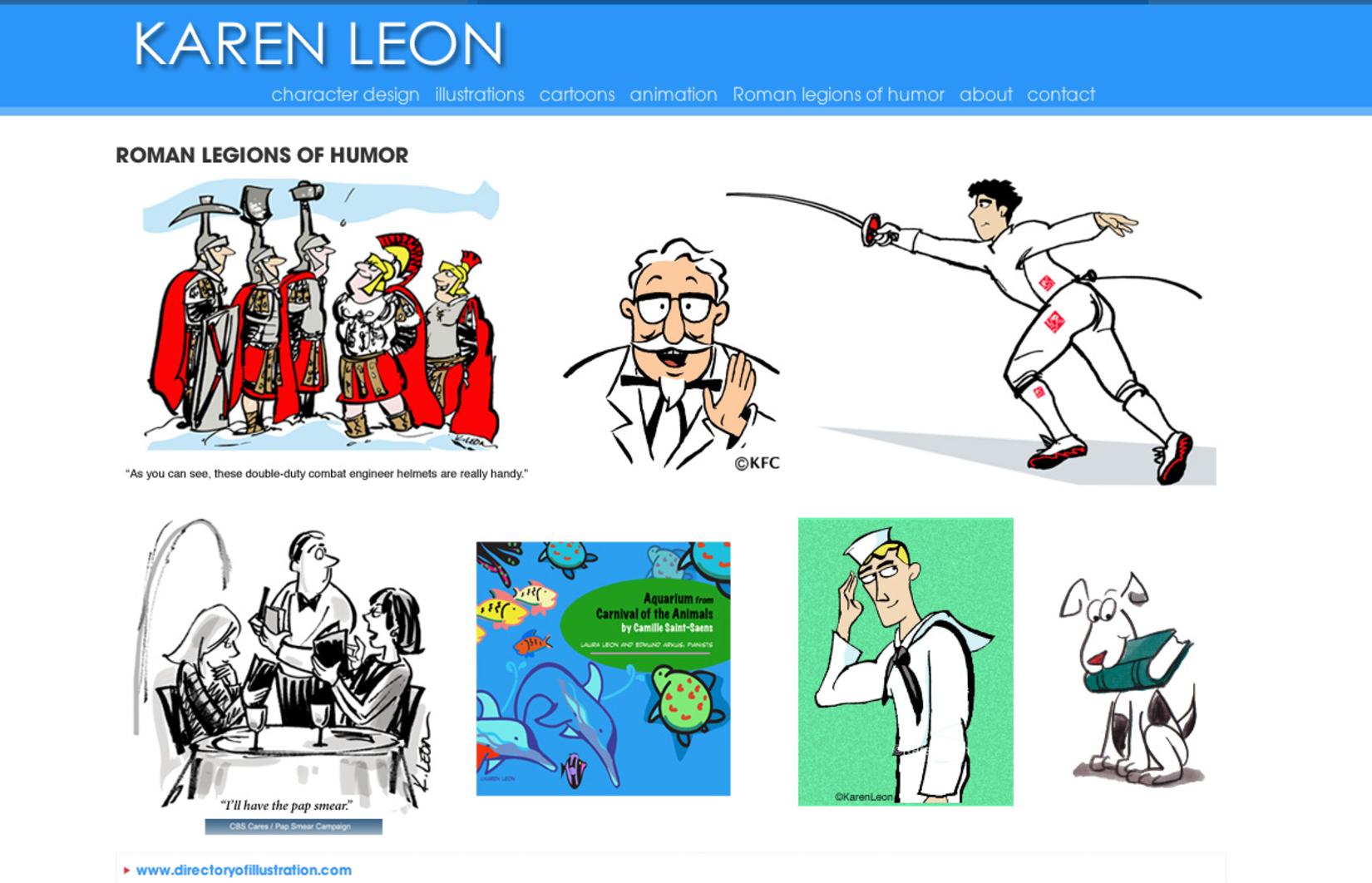 Karen Leon Cartoon Art