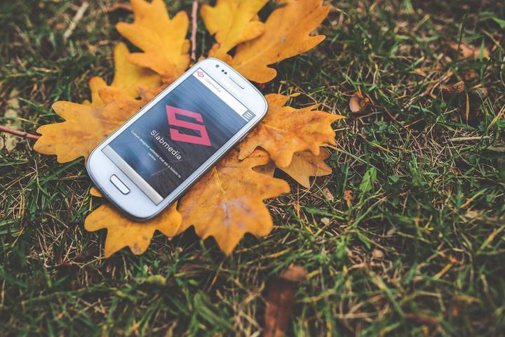Slabmedia website on a mobile phone