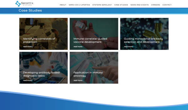 Detail of Homepage for Seromyx website