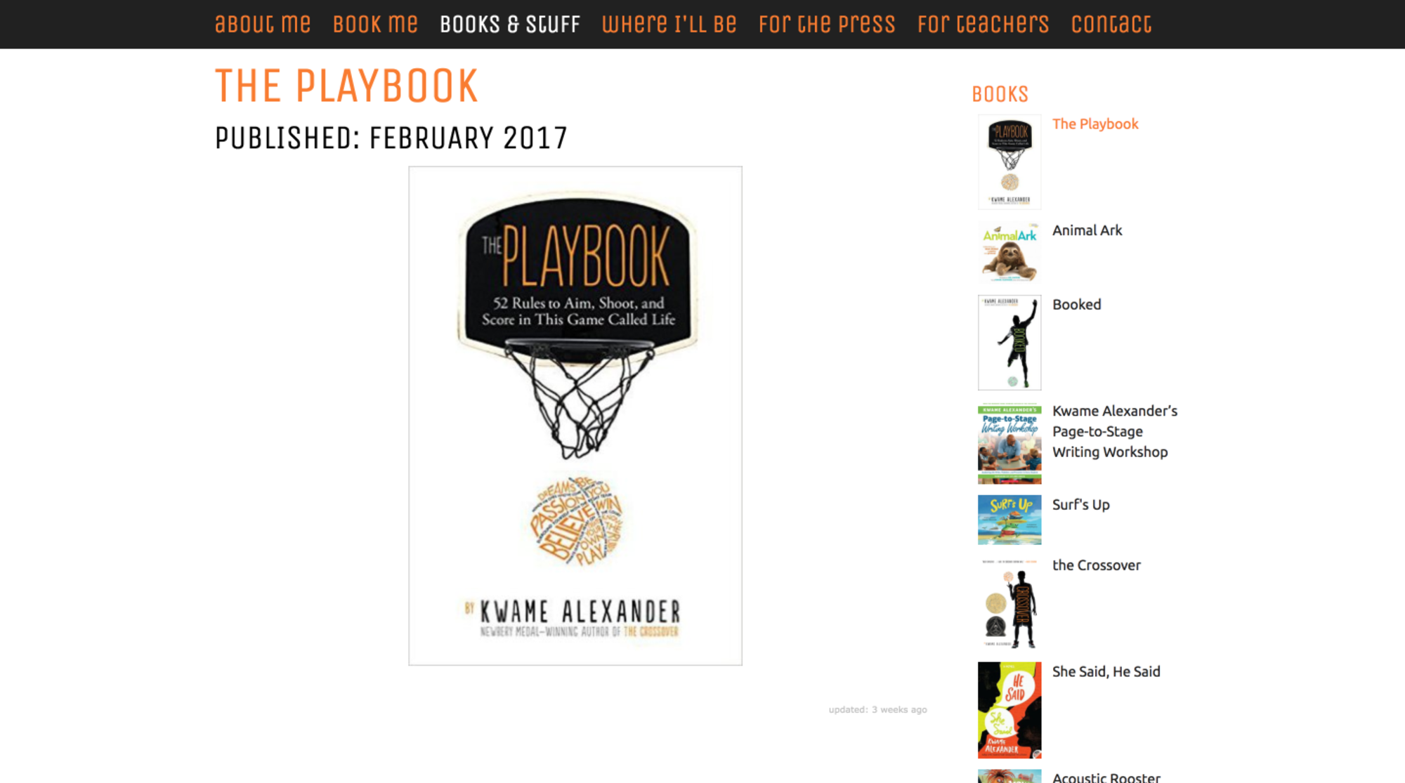 kwame alexander web design books and stuff