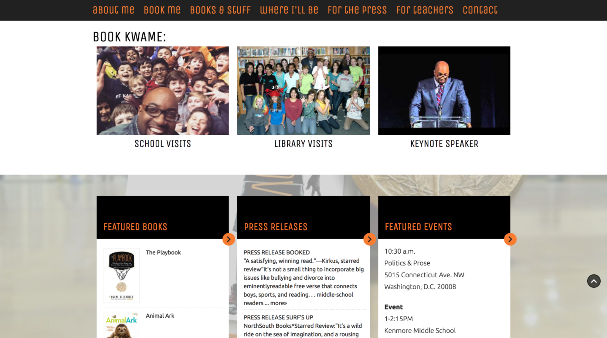 kwame alexander homepage scroll further down