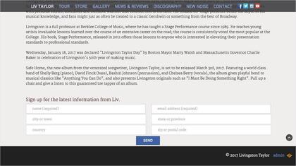 Homepage scroll